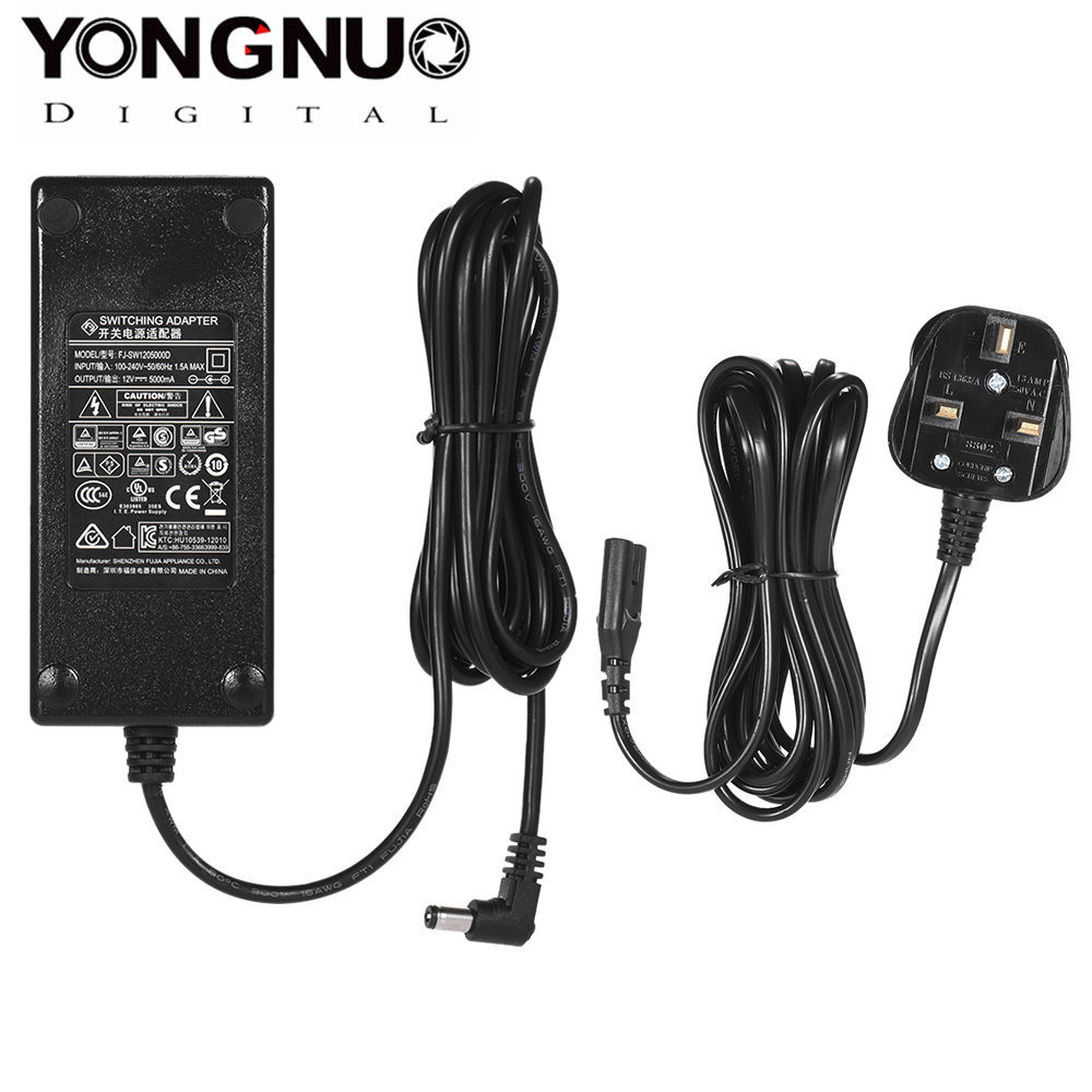 YONGNUO 12V 5A AC Power Adapter Charger for YONGNUO <font><b>YN600L</b></font> Series YN300III YN168 LED Video Light AC Power Adapter Charger image