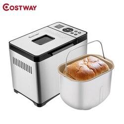 COSTWAY wielofunkcyjna automatyczna maszyna do chleba ze stali nierdzewnej 2LB maszyna do chleba EP23610US|Pieczenie chleba|AGD -