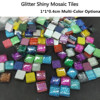 100pcs Glitter Shiny Crystal Mosaic Tiles 1cm Square Sequin DIY Mosaic Tile Multi-Color Optional Mosaic Craft Making Materials