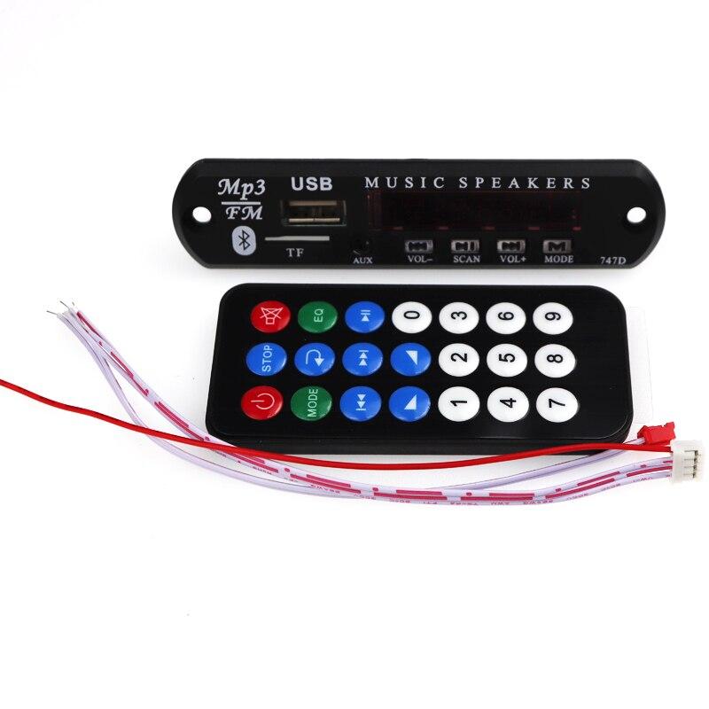 DC 5V 12V Bluetooth USB Power Supply TF FM Radio WMA MP3 Decoder Audio Board USB MP3 Player For Car Remote Music Speaker