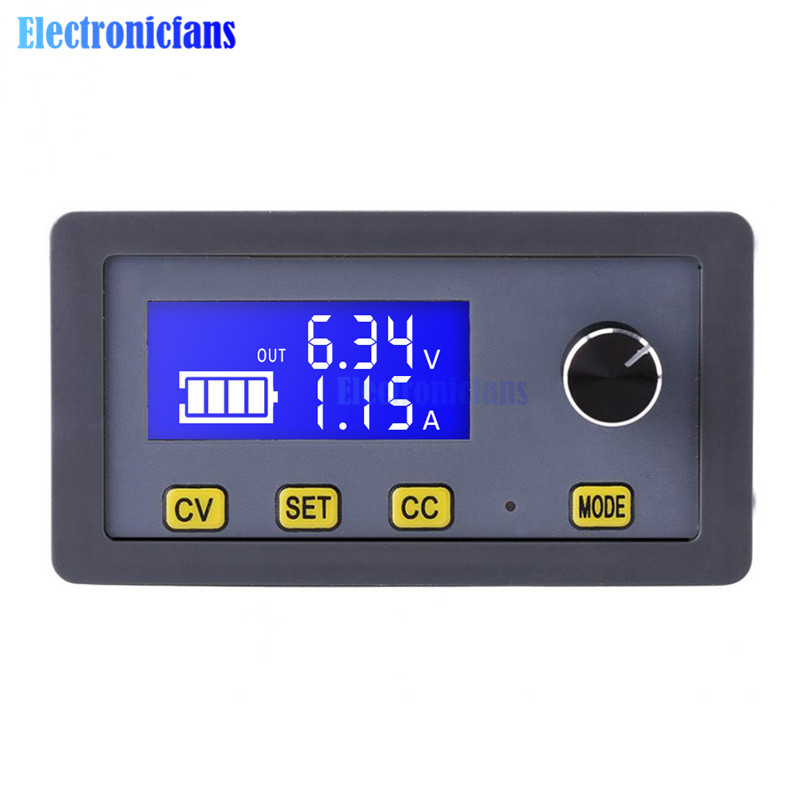6V-32V To 0-32V LCD Display Adjustable DC-DC 5A Step Down Power Supply Buck Module CC CV Voltage Regulator Converter LED Drive