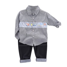 Spring Autumn Kids Boys Clothes Sets Baby T Shirt+Pants Casual Sport Suits Toddler Boy Clothing Set Casual Kids Outfits Baby 2017 new fashion print baby boys t shirt hip hop dance harem pants boy 4 6 8 10 12 14 year sport clothes suits kids clothing set