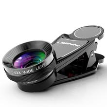LIGINN 0.63X Wide Angle +15X Macro Two In One Universal External Mobile Phone Photography Camera Lens Universal Microscope