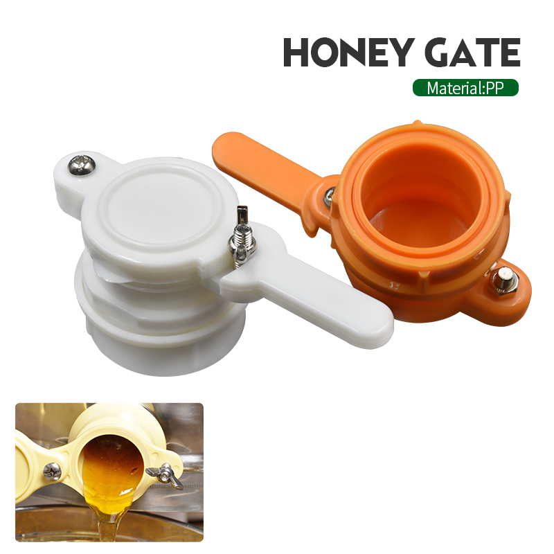 Bee Honey Tap Gate Valve Beekeeping Pump Extractor Bottling Durable Nylon Flow Port Beekeeping Equipment Hive Tool