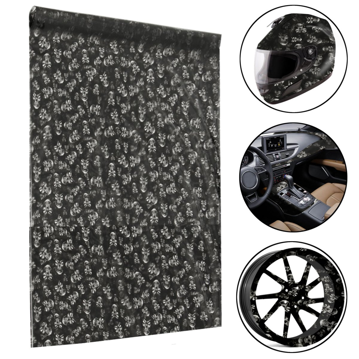 50x150cm Black PVA Hydrographic Film Water Dipping Transfer Printing Film Hydro Dip Style Decals Stickers