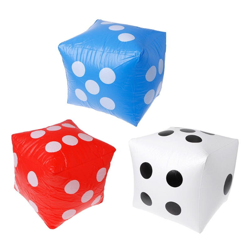 40cm Giant Inflatable Dice Beach Garden Party Game Outdoor Children Kid Toy Inflatable Dice