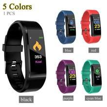 Смарт-браслет 115Plus с пульсометром и артериальным давлением фитнес-трекер Smartband Bluetooth браслет для fitbits Смарт-часы