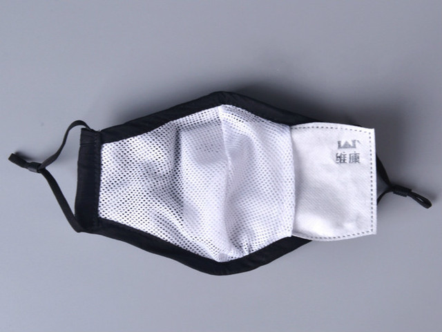 Cotton KN95/ PM2.5 Black mouth Mask anti dust mask Activated carbon filter Windproof Mouth-muffle bacteria proof Flu Face masks 2