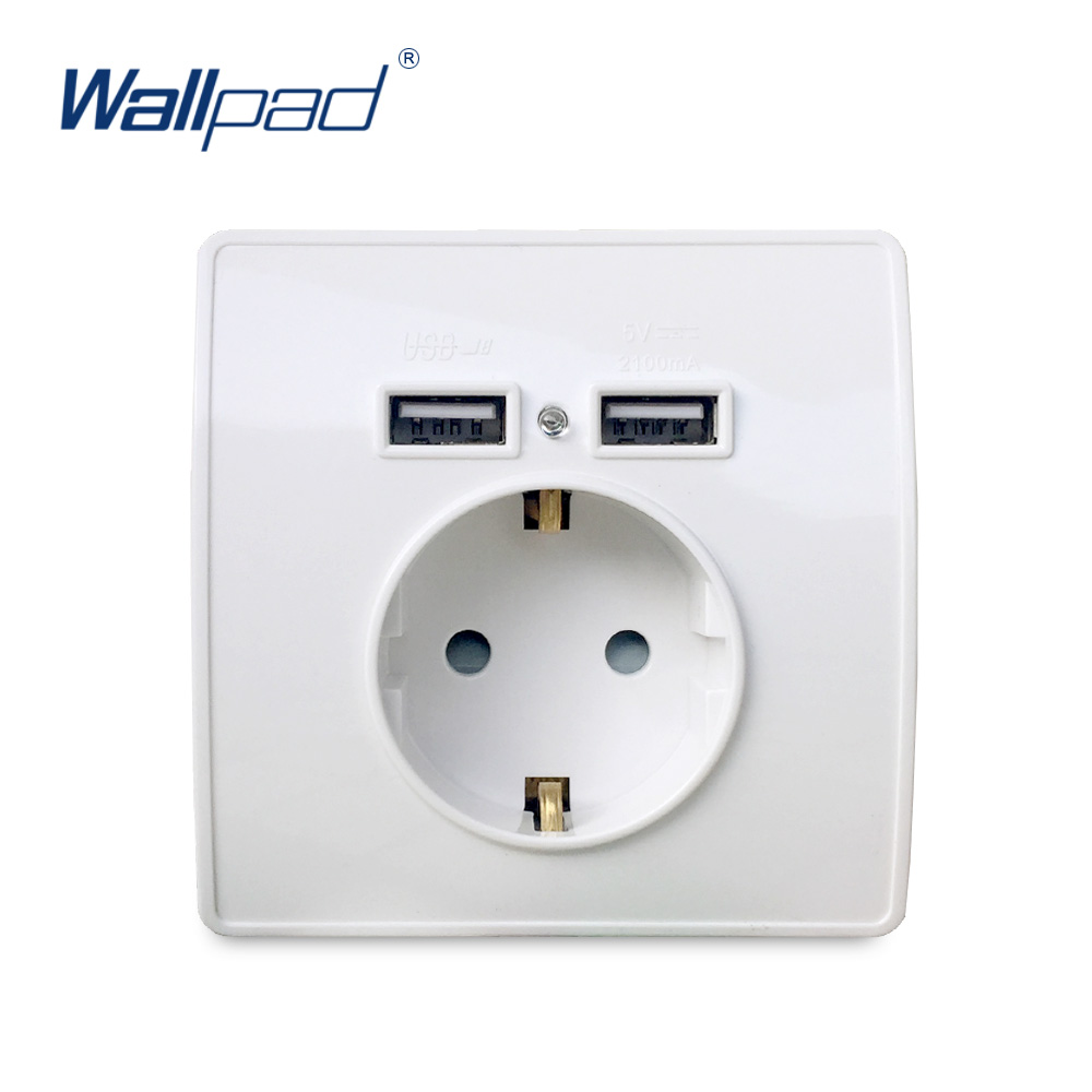 Smart Home 2A Dual USB Port Wall Charger Adapter Charging Socket With USB Wall Adapter EU Plug Socket Power Outlet