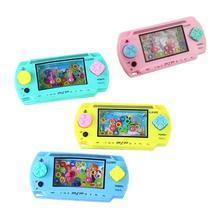 Детская портативная игровая машина для родителей и детей, Интерактивная антистрессовая игра, игрушки для детей, водное кольцо, выдавливающая игрушка, случайный цвет