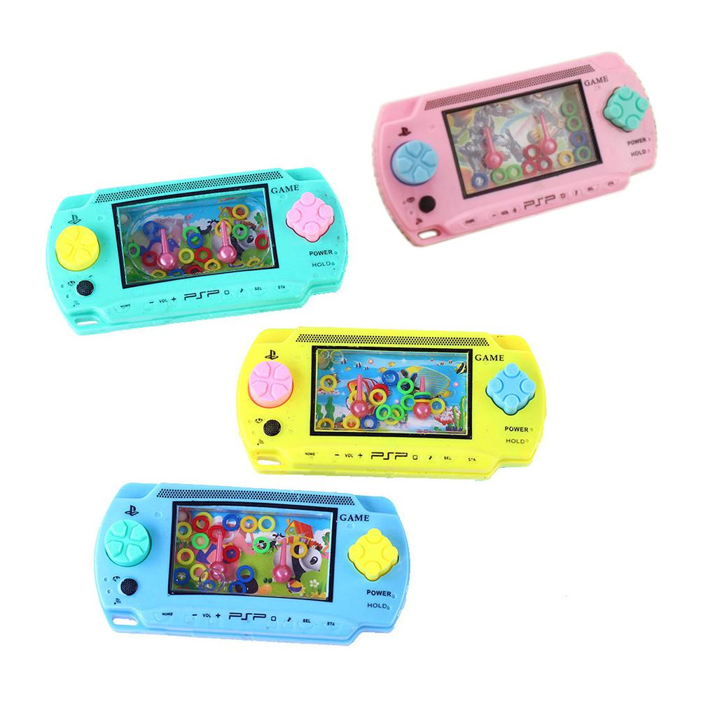 Child Handheld Game Machine Parent-Child Interactive Antistress Game Toys For Children Water Ring Toss Squeeze Toy Random Color