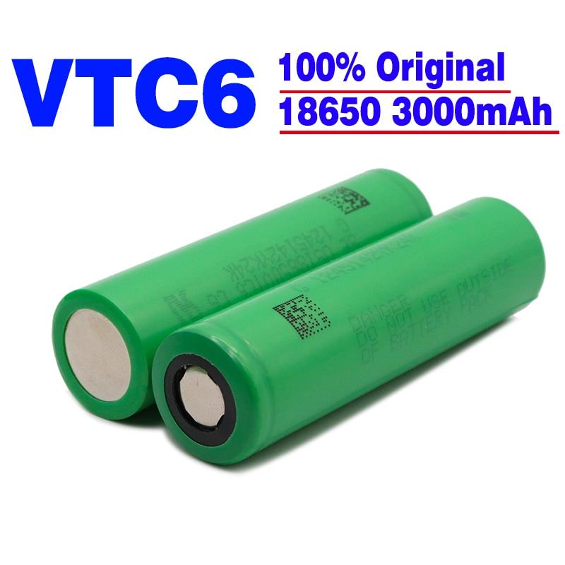 2021 оригинальный 18650 Аккумулятор 3,7 в 3000 мАч литий-ионный 18650 перезаряжаемый аккумулятор для US18650 VTC6 электронные игрушки инструменты фонарик