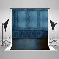VinylBDS 10X10FT 레트로 블루 벽돌 벽 웨딩 사진 배경 초상화 추상 스튜디오 배경