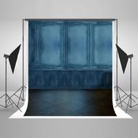 VinylBDS 10X10FT Retro Blue Brick Wall Wedding Photography Backdrop Portrait Abstract Studio Background