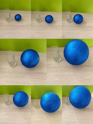 Dark Blue Polystyrene Styrofoam Foam Ball Party Wedding Festival Stage House Decoration DIY Handmade Materials 15-30cm(diameter)