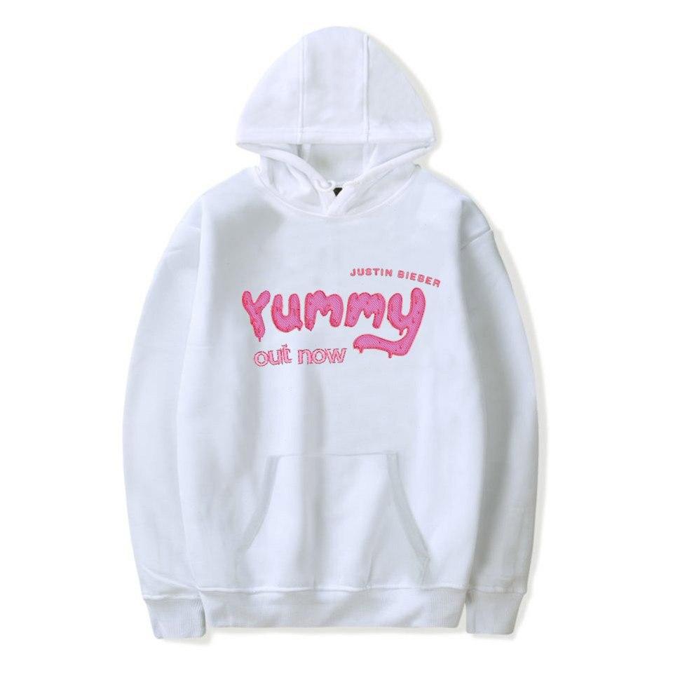 Justin Bieber Yummy Hoodies Women Sweatshirt Oversized Hoodie Pink Clothing Men Polerone Winter Clothes Women Harajuku Shirt