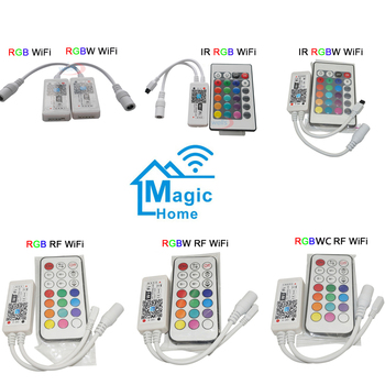 цена на Mini Wireless WIFI LED RGB / RGBW Controller RF Remote Control IOS/Android Smart Phone for RGBCW/RGBWW RGB LED Strip,DC12-24V