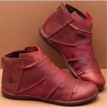 women ankle boots flats shoes woman chaussures femme ladies zapatos mujer sapato flat booties w21