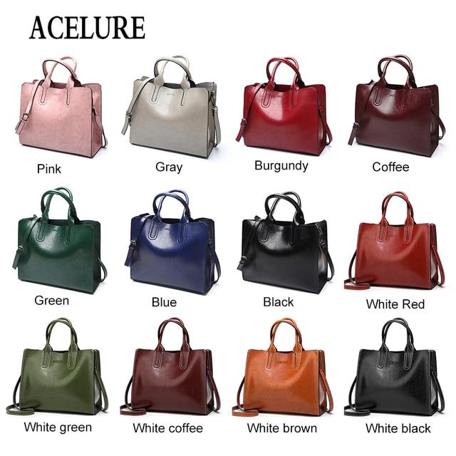 ACELURE Leather Handbags Big Women Bag High Quality Casual Female Bags Trunk Tote Spanish Brand Shoulder Bag Ladies Large Bolsos 4