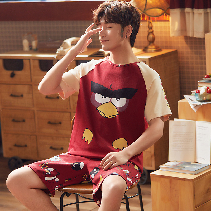 Spring And Autumn Men's 6535 Cotton Short Sleeve Shorts Korean-style Men Summer Young And Middle-aged Thin Japanese Korean Homew