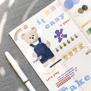 JIANWU 1set Leben Geschichte vol.3 Einfache Kreative Notebook Aufkleber DIY Sammelalbum aufkleber journal kawaii Schule liefert