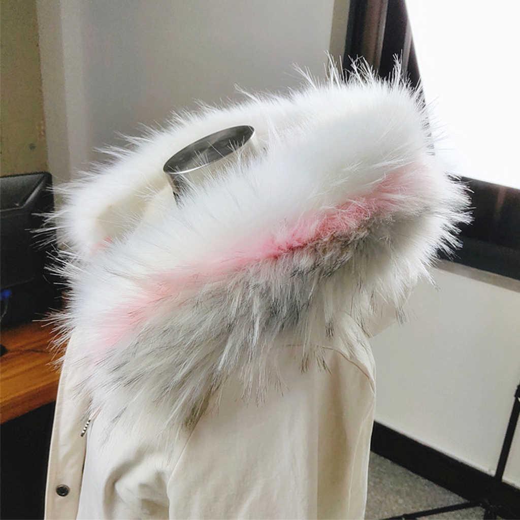 가짜 모피 칼라 스카프 두꺼운 재킷 스웨터 긴 옷 액세서리
