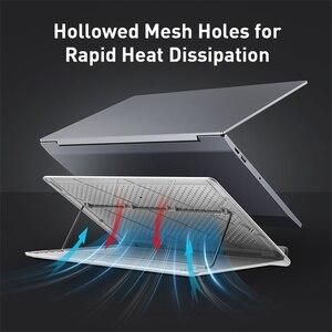 Image 2 - Baseus örgü taşınabilir dizüstü Macbook pro standı katlanabilir dikey dizüstü tutucu aksesuarları destek dizüstü Tablet