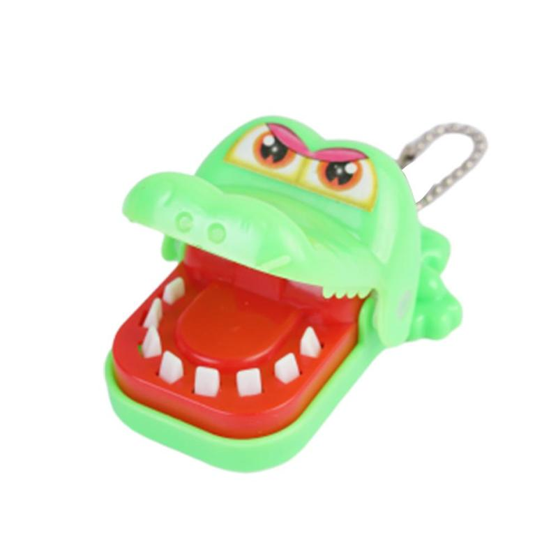 1pc New Mini Crocodile Bite Finger Toy Mini Crocodile/Shark/Hippo Family Game Christmas Kids Gift April Fools' Day Child Prank