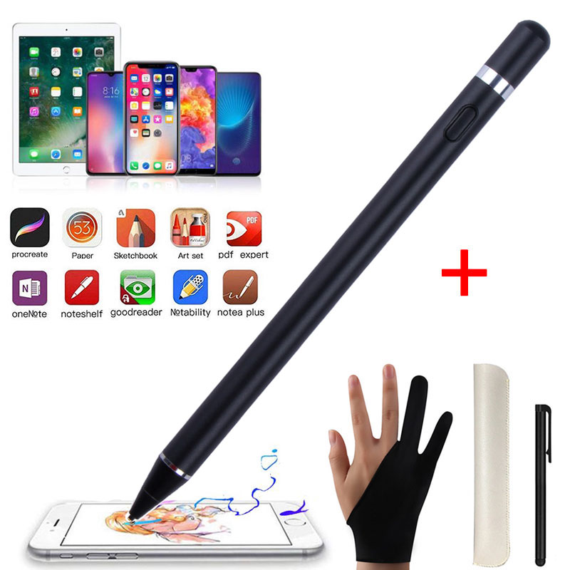 For IPad Pencil Stylus Pen For IPad Pro 9.7 10.5 12.9 Inch Screen Touch Pen Stylus For Tablet Mobile Phone 1.45mm Super Fine Tip