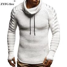 חדש חורף גברים אופנה מזדמן סוודר mens להתחמם סריגי סוודר גולף מוצק צבע סוודר לגברים מעיל בתוספת גודל