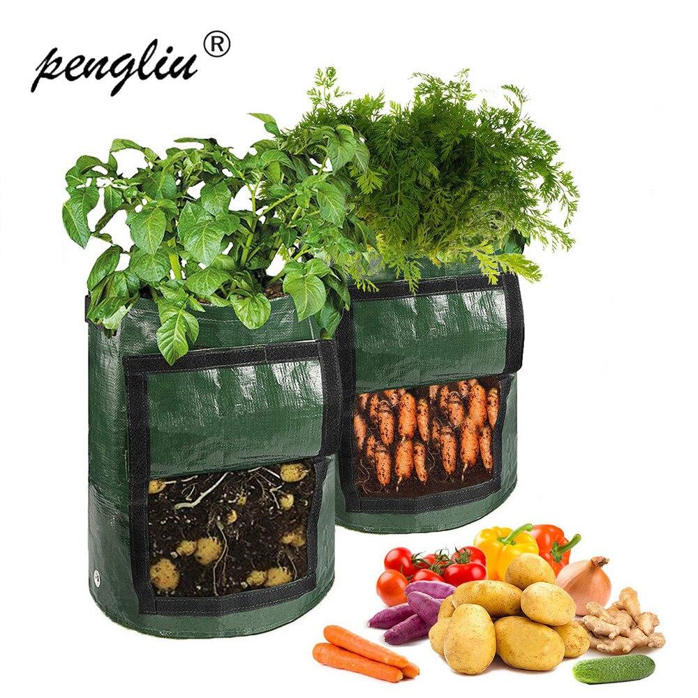 Тканая сумка для растений, горшок для цветов, картофель, картофель, овощи, сумка для балкона, сельскохозяйственные креативные садовые инструменты|Тканевые горшки для рассады| | АлиЭкспресс