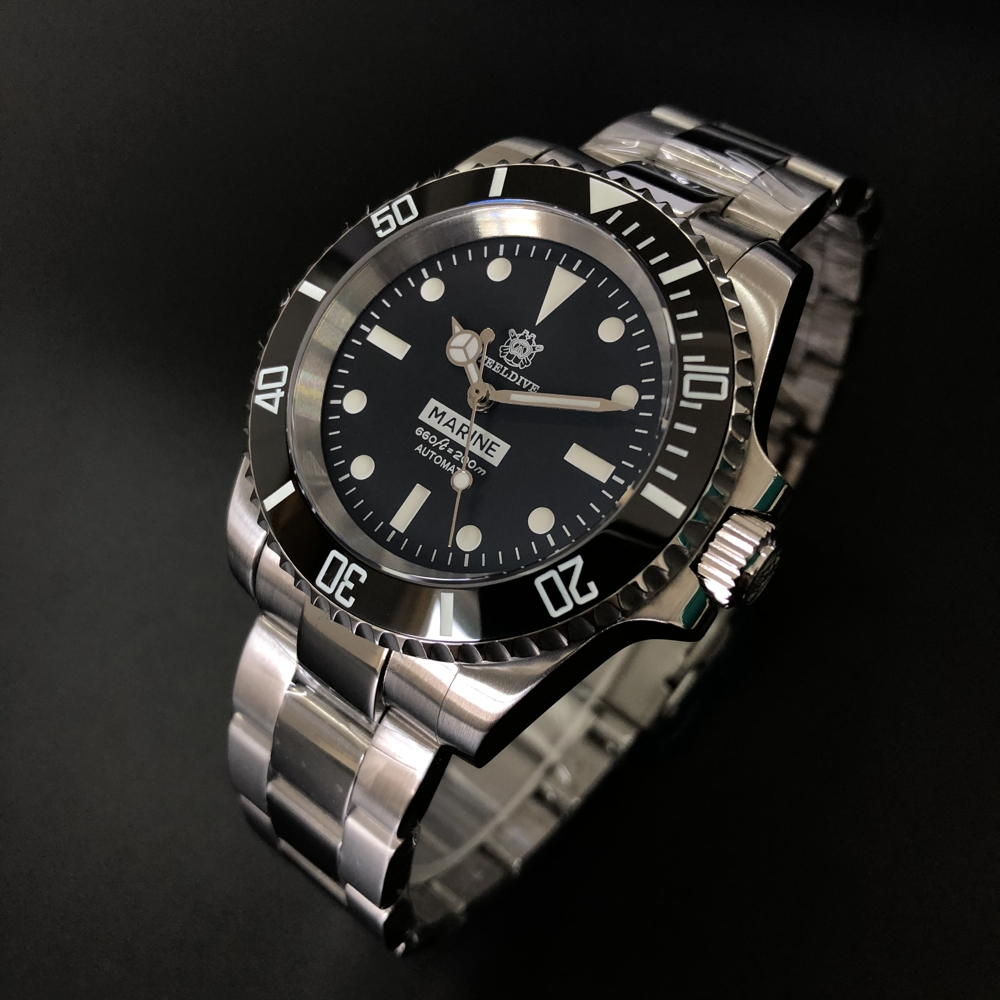 STEELDIVE 1954 Dive Watch NH35A Sapphire Crystal Diver Watch 200m Oman Sultan Ref.5513/5514 Steel Watch Diving BGW9 C3 Luminous