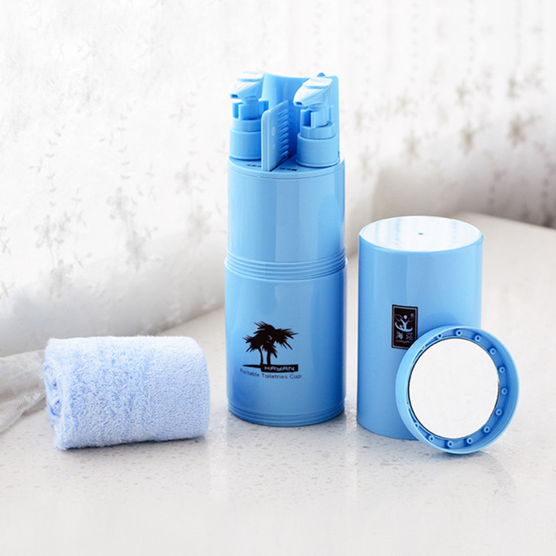 5pcs Toothbrush Travel Case Portable Toothbrush Storage Box Toothbrush Holder Organizer Cover Case Bathroom Accessories Set image