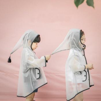 Śliczny przezroczysty EVA dziecięcy płaszczyk przeciwdeszczowy wodoodporny płaszcz przeciwdeszczowy dla dzieci na zewnątrz kurtka przeciwdeszczowa wiatroodporny Poncho z kapeluszem szkolny sprzęt przeciwdeszczowy tanie i dobre opinie S-008 Odzież przeciwdeszczowa Single-osoby przeciwdeszczowa Płaszcze Z tworzywa sztucznego Turystyka Chłopcy Dziewczyny