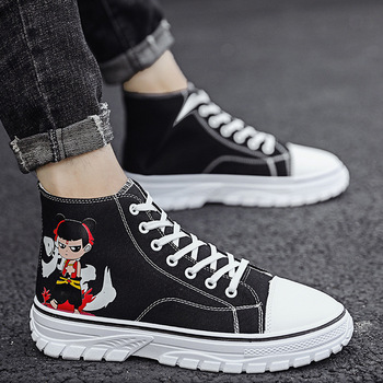 Brand men shoes high canvas shoes 2019 new increase trainers sneakers men vulcanized shoes free shopping кроссовки мужские