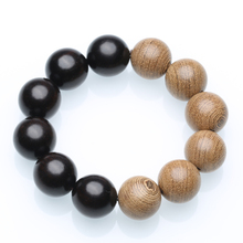 Natural wood beaded men's bracelet wooden can inch jewelry diameter 20mm friendship bracelet