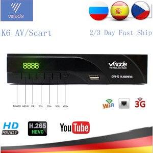 Vmade DVB-T2 HD Digital Terrestrial Receiver H.265/HEVC DVB T2 TV Tuner Support RJ45 LAN AC3 Audio Hot Sale Europe Set Top Box(China)