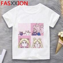 Sailor Moon boys children kids t-shirt tshirt e girl funny cartoon anime roupas infantis masculino clothing