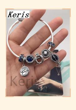 High Quality Reproduction 1:1 100% Silver Crown Hot Air Balloon Pattern Clip-On String Bracelet First Choice For Gift Free Packa