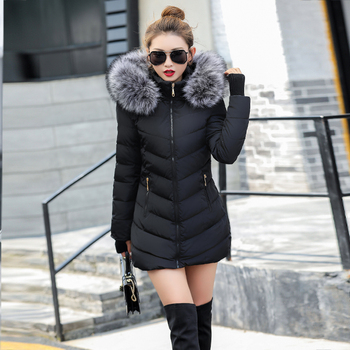 2020 artificielle fourrure de raton laveur col hiver veste femmes hiver et automne porter de haute qualité Parkas Outwear femmes longs manteaux 1