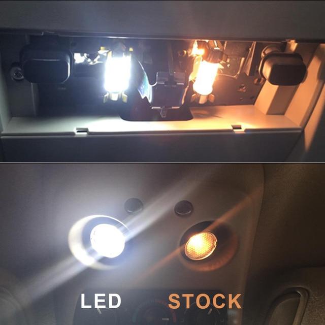9Pcs Canbus Error Free Car LED Light Bulb Lamp Interior Kit For 2014-2018 BMW i3 Glove Box Dome Map Light 4