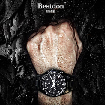 Bestdon Sapphire Crystal Watch Men Mechanical Automatic Military Man Watches Top Brand Luxury Moon Phase Black Relogio Masculino relogio masculino sekaro moon phase mens watches top brand luxury gold men watch automatic mechanical leather wristwatches
