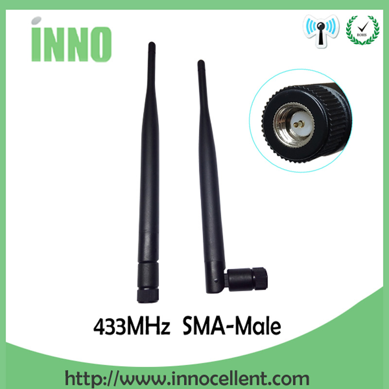 433Mhz Antenna 5dbi SMA Male Connector 433 MHz Directional Antena Rubber Aerial Wireless Repeater Lorawan Antenne 433m
