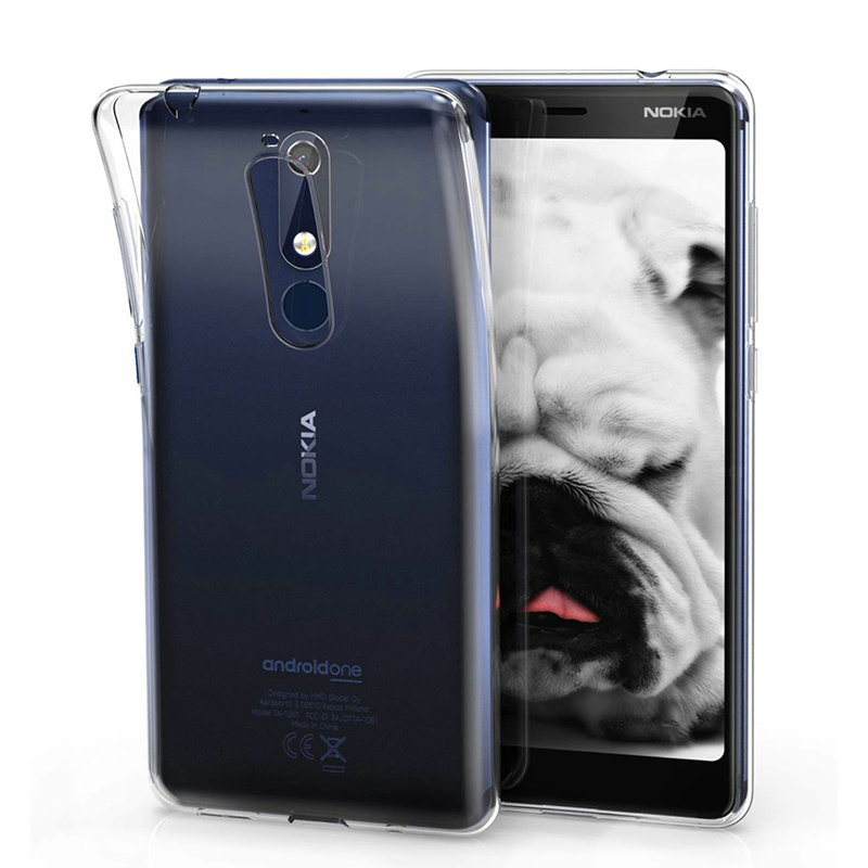 Luxury Silicone Phone <font><b>Case</b></font> <font><b>for</b></font> <font><b>Nokia</b></font> 5.1 Nokia5.1 2018 <font><b>TA</b></font>-1061 <font><b>TA</b></font>-<font><b>1075</b></font> <font><b>TA</b></font>-1076 <font><b>TA</b></font>-1081 Transparent Gel TPU Soft Clear Back Cover image