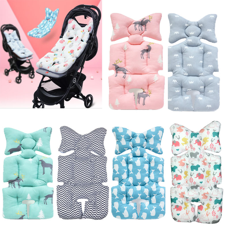 Baby Stroller Mattress Pad Winter Car Seat Liner Cotton Child Toddler Safty Seat Cushion Infant Pillow Neck Body Support