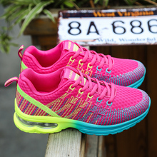 Hot Sale Sport Women Cushion Sports Shoes Outdoor Breathable Rose Mesh Sneakers Woman Athletic Cushioning Running Shoe Trainers 2018 hot sale woman sneakers sport shoes breathable autumn athletic anti slip casual mesh shoes