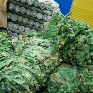 Image 2 - 2X4m 3X4m 3X6m Camping Military Camouflage Nets Camo Net Car Cover Army Sun Shelter Tent Outdoor Hunting Blind & Tree Stand