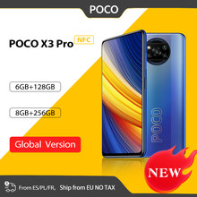 Globale Version POCO X3 Pro NFC 6GB 128GB / 8GB 256GB Handy Snapdragon 860 120hz DotDisplay 48MP Kamera 5160 Batterie 732G