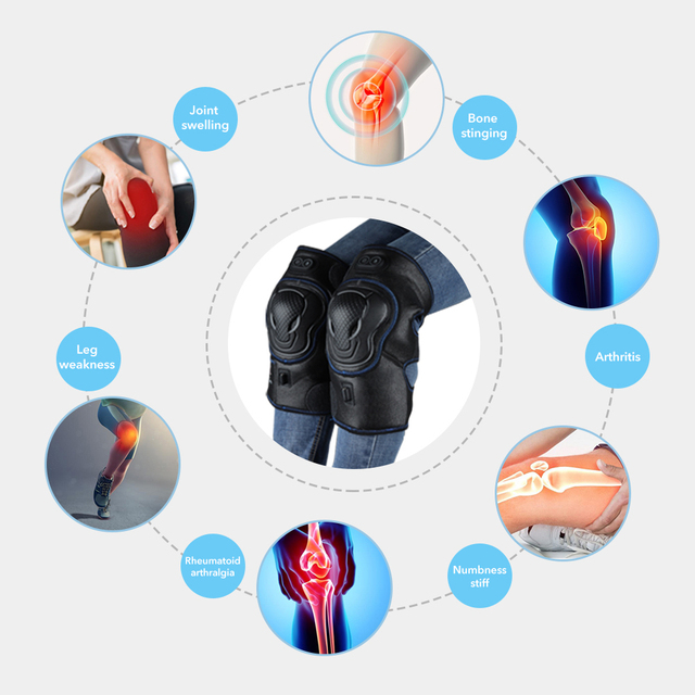 Knee Brace Support Wrap Massager Infrared Heating Hot Therapy Arthritis Cramps Pain Relief Injury Recovery Knee