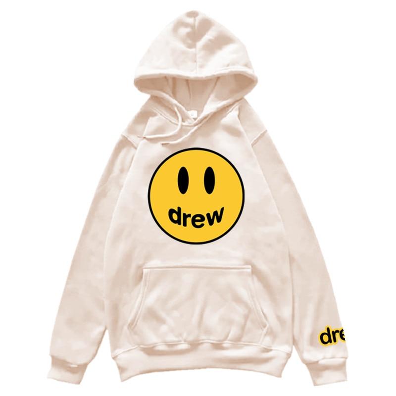 Hoodie Men Justin Bieber The Drew House Smile Face Print Men Women Billie Eilish Hoodies Sweatshirts Hip Hop Winter Pullover